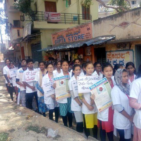 Rally on eye donation