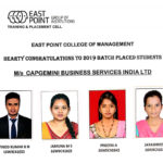 Placements 2018-19 (Management)