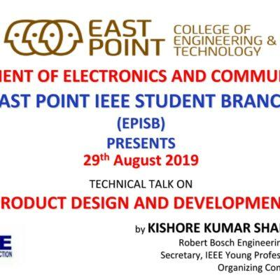 Upcoming Event: Technical Talk On Product Design ….