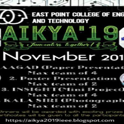 Upcoming Event: AIKYA – 2019