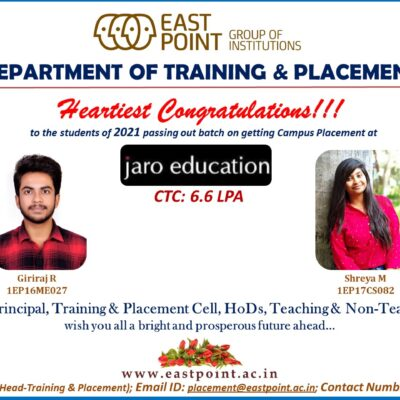 Placed in Jaro Education
